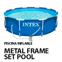 metal frame pool intex